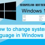 How to Change Windows 10 System Language