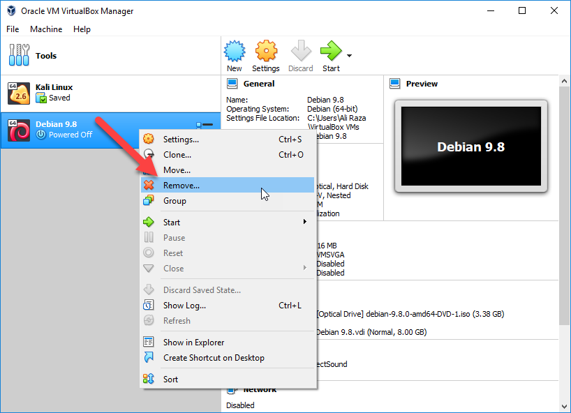 Completely Delete a Virtual Machine on Windows