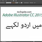 How to Write Urdu, Arabic, Persian in Adobe Illustrator CC 2015