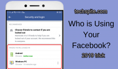 How to Check if Someone is Logged in your Facebook in 2019