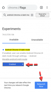 Enable Google Chrome Dark Mode on Android