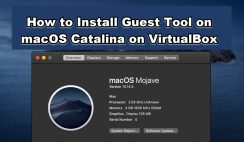 How to Install Guest Tool on macOS Catalina on VirtualBox on Windows