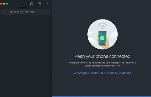 Get Dark Mode on Whatsapp Web in macOS and Windows PC