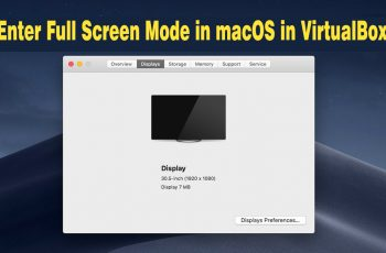 How to Enter Full Screen Mode in macOS in VirtualBox