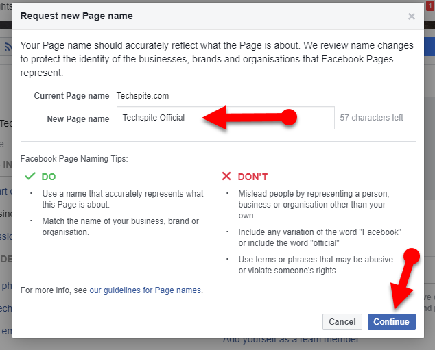 How to Change Facebook Page Name 2020