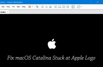How to Fix macOS Catalina Stuck at Apple Logo when installing on VMware