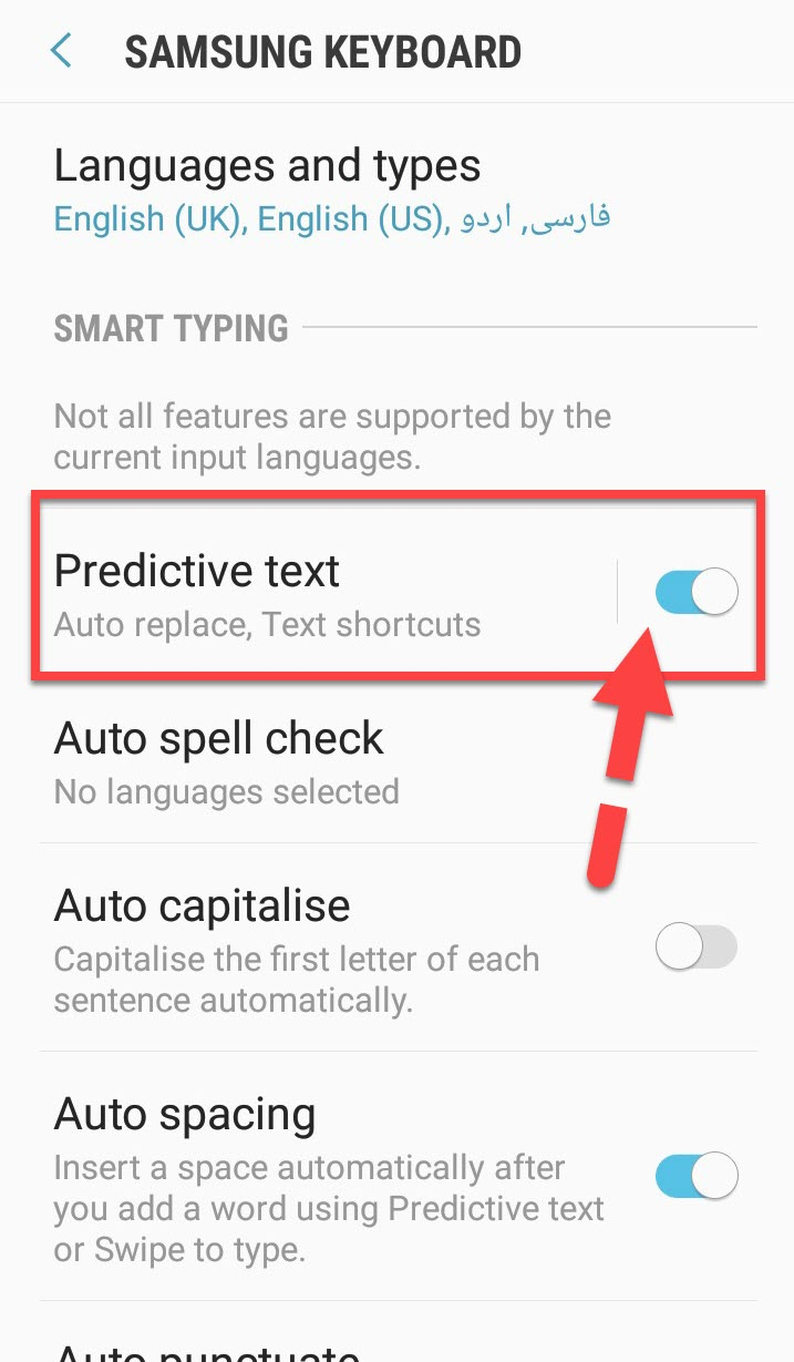 Clear or Reset Android Keyboard History