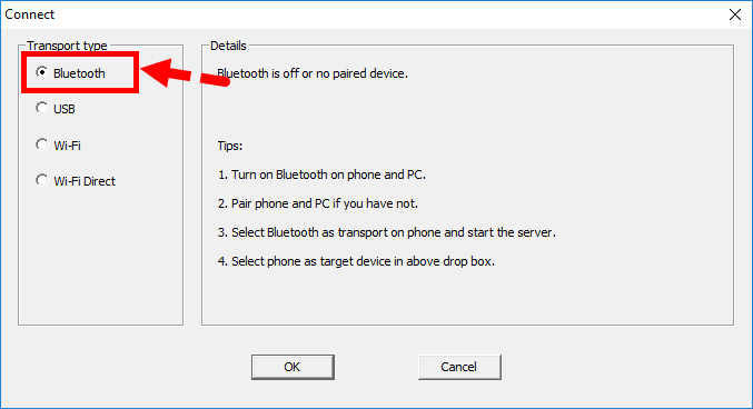 Smartphone as a Windows Microphone