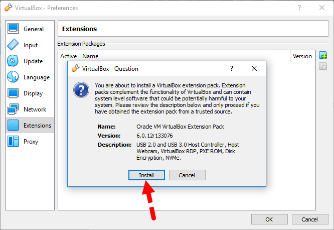 Install VirtualBox Extension Pack and Enable USB 3.0