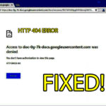 Fix Google Drive Authorization HTTP 403 Error