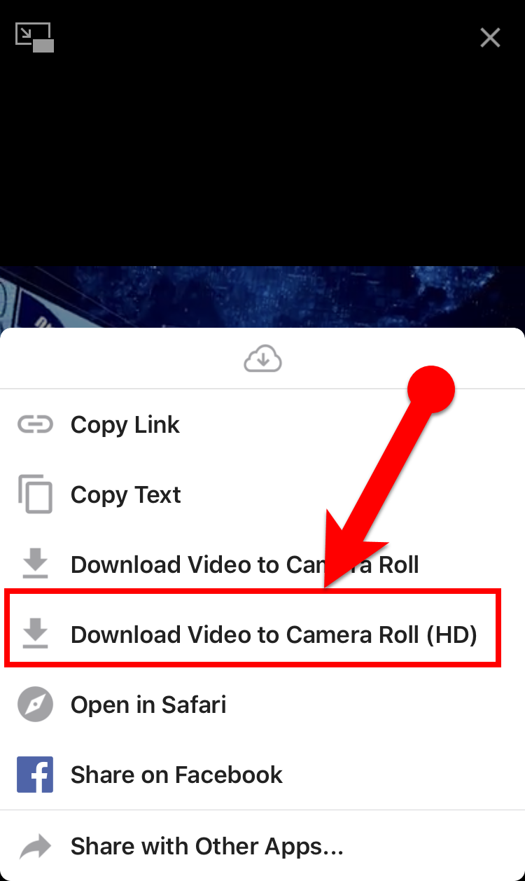 Download Facebook Video to iPhone Camera Roll