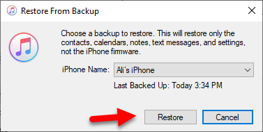 How to Backup & Restore iPhone Using iTunes in Windows 10
