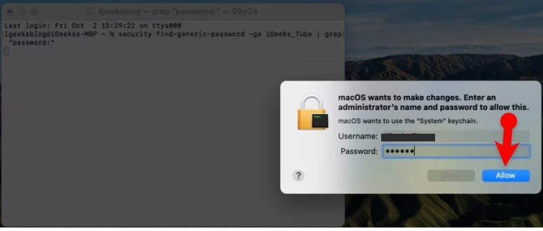 Find WiFi Password on Your Mac