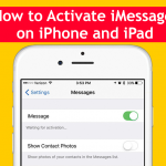 How to Activate iMessage on iPhone and iPad