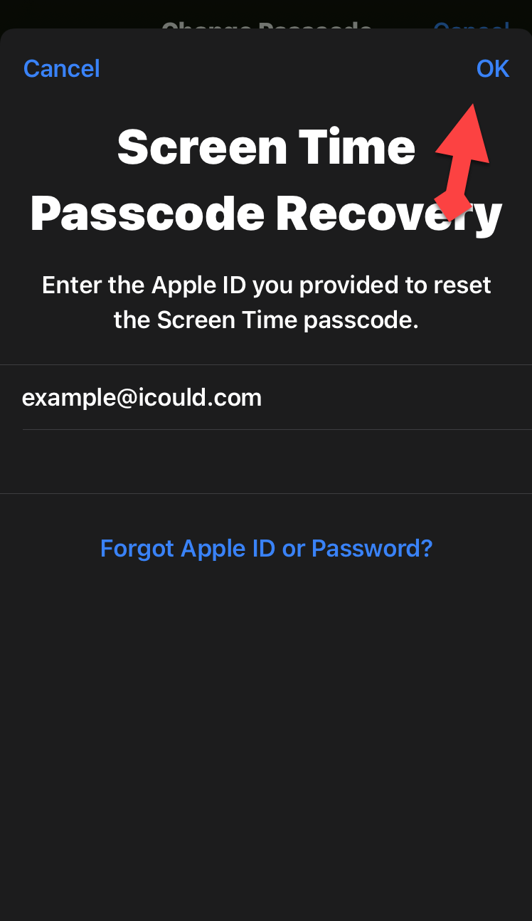 Reset Screen Time Passcode on iPhone