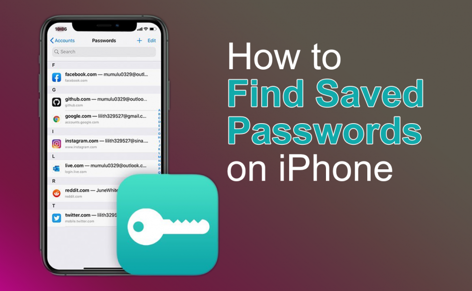 Find and Edit Saved Passwords on iPhone