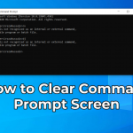 Clear Command Prompt Screen