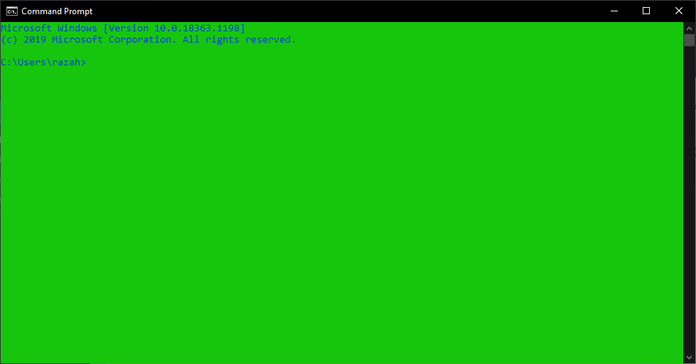 Change Background and Font Color in CMD