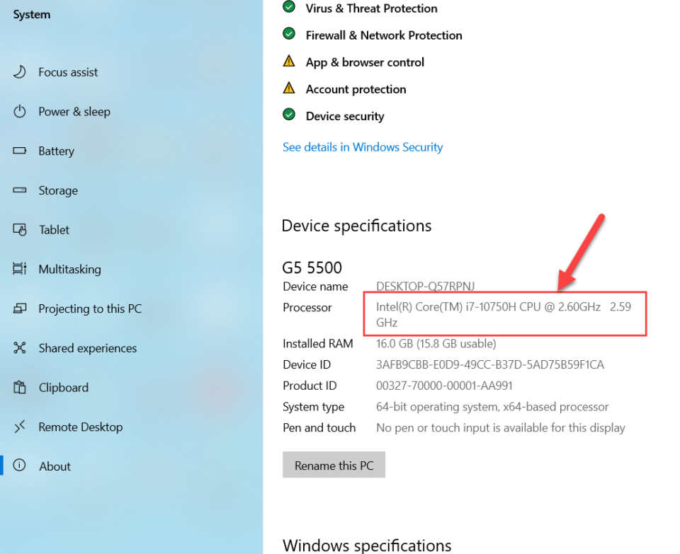 How to Check the Generation of Laptop or PC in Windows 10