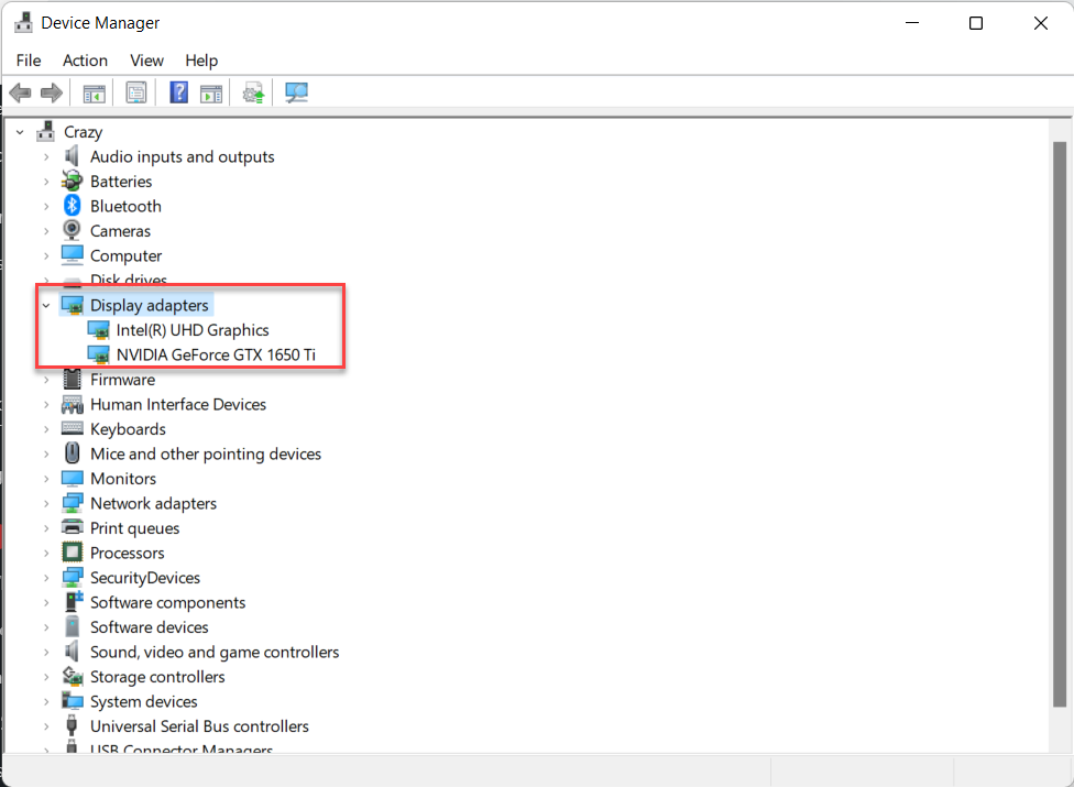 Check Graphics Card in Windows 11
