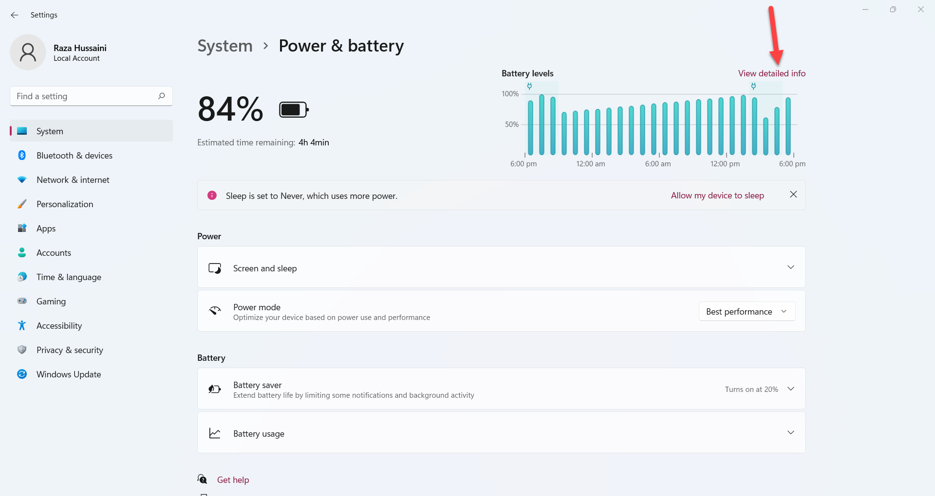 Check Laptop Battery Health in Windows 11